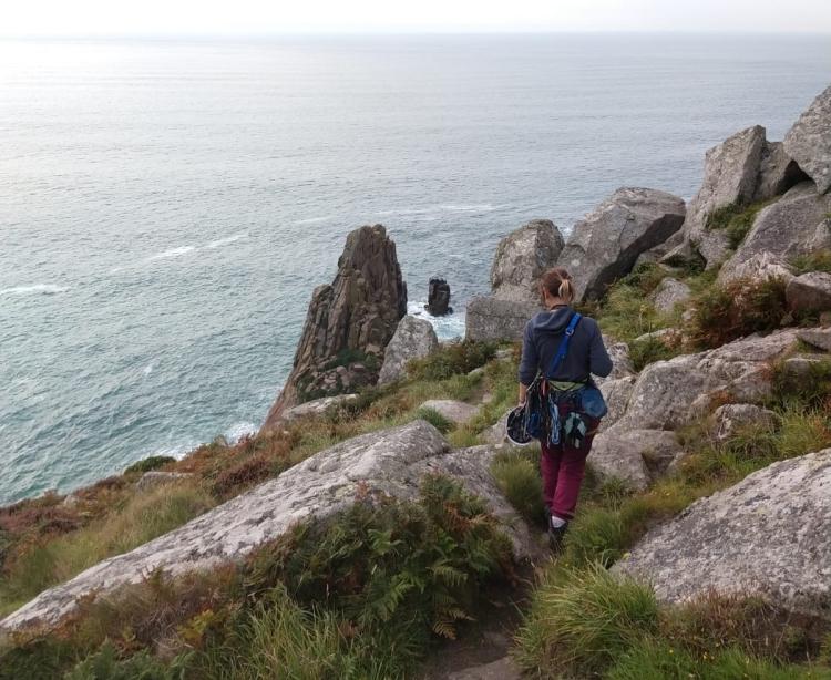 Cornwall climbing