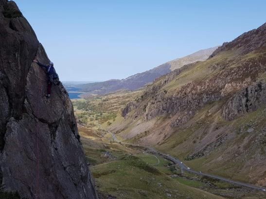 Climbing Dinas Mot Direct Route the wrong way