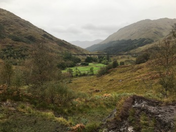 Glenfinnan looking at the train truck Viaduct
