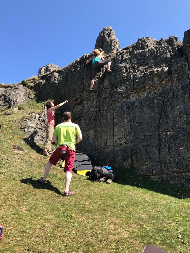 Bouldering at Harborough Rocks
