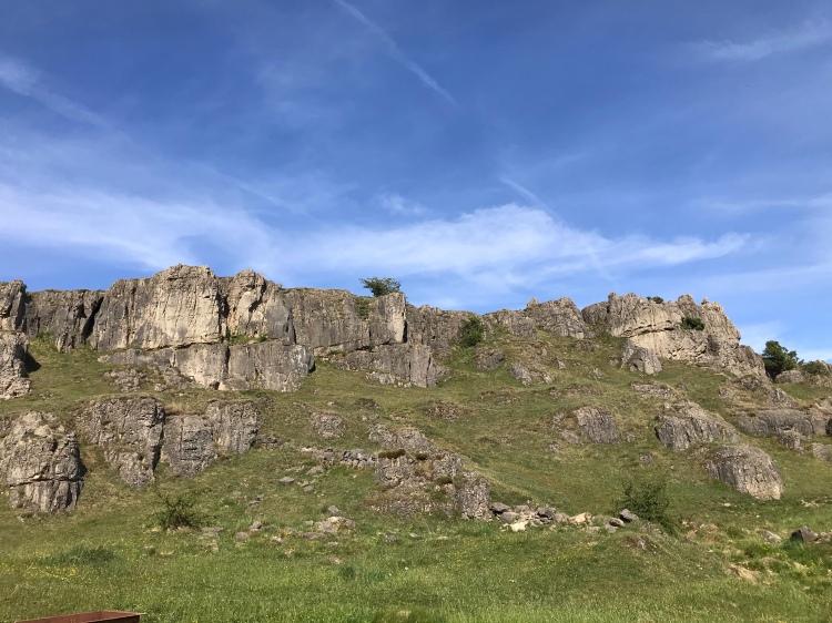 Climbing Harborough Rocks Derbyshire