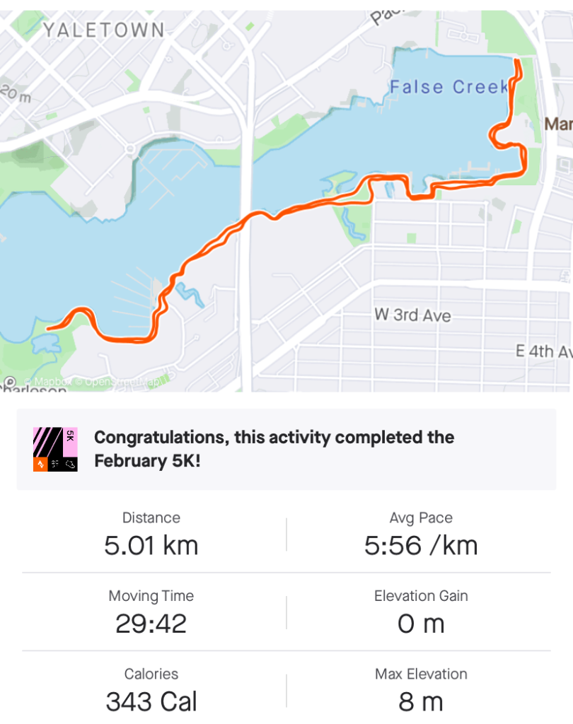 Seawall Vancouver running